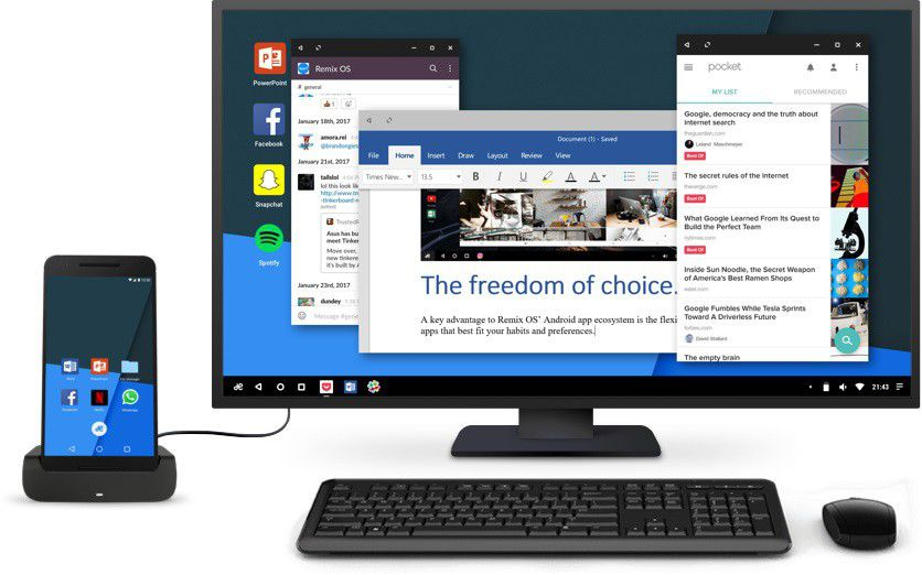 Remix OS Continuum