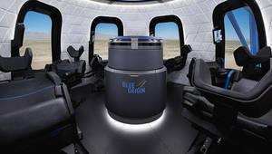 Blue Origin: l'intérieur de la capsule et le trophée Collier