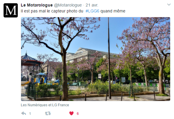 Tweet Vincent APN LG G6