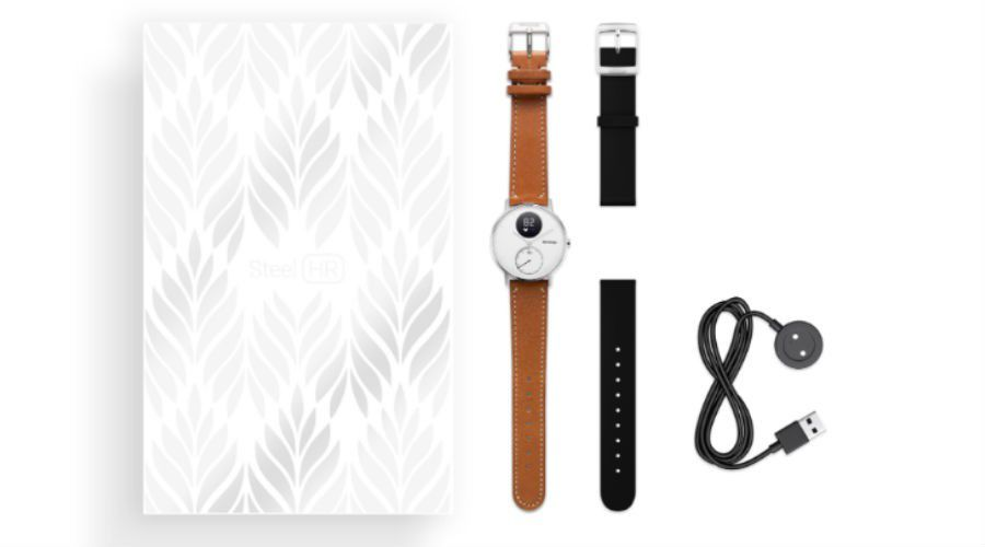 News withings steel HR cuir