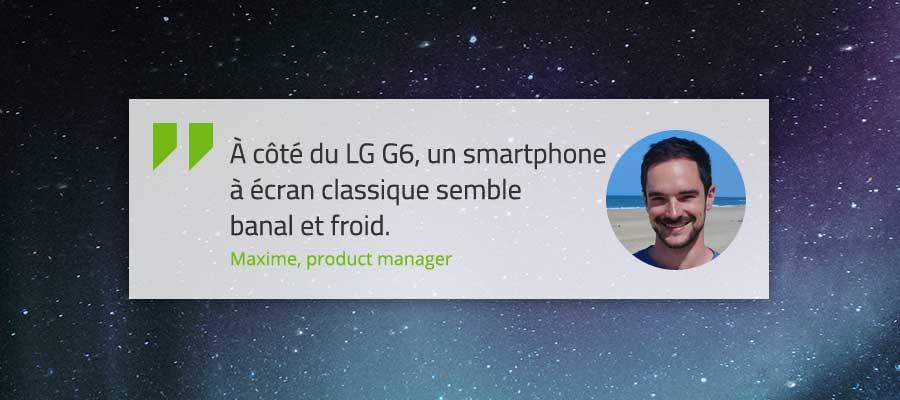 Verbatim Maxime écran LG G6
