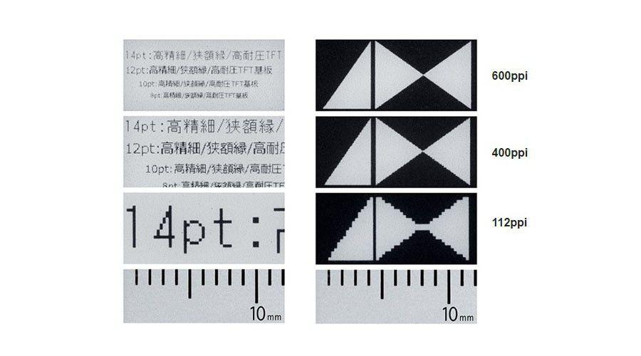 Vers des écrans e-Ink de 400 et même 600 ppp