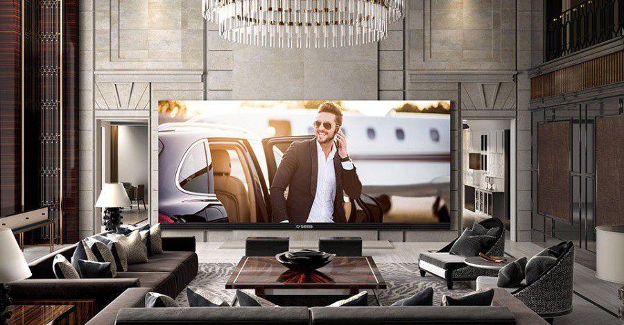 """Le plus grand téléviseur """"4K"""" fait 262 pouces et coûte..."""