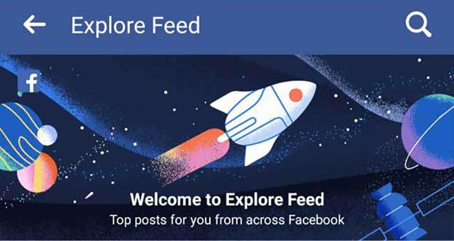 Facebook lance le nouveau fil d'actus Explorer