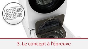 Lecteurs-testeurs LG Twin Wash: l'efficacité du concept