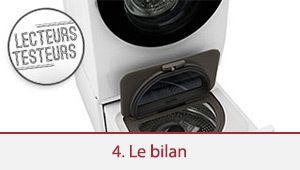 Lecteurs-testeurs lave-linge LG Twin Wash: l'heure du bilan a sonné
