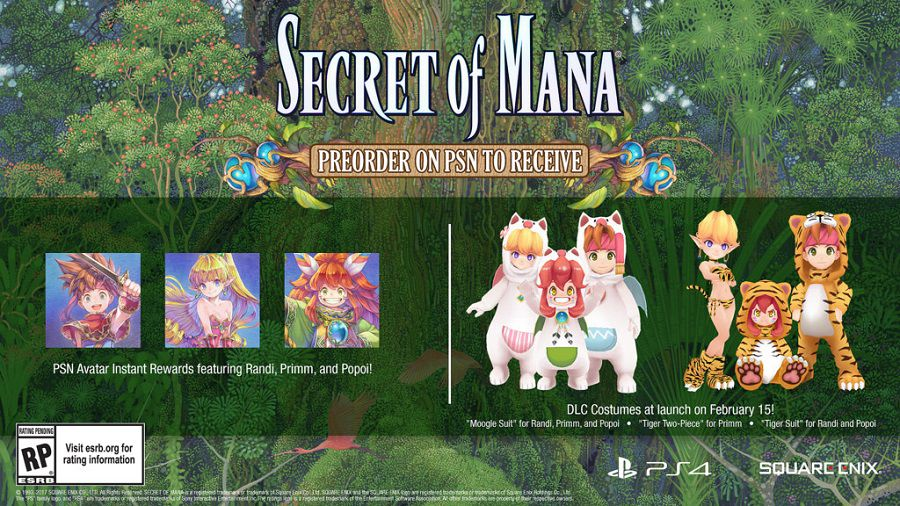 Secret of Mana remake 3D PSN