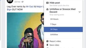 Facebook: un bouton snooze pour faire taire ses amis ennuyeux