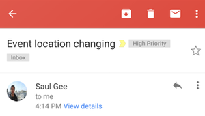 Gmail: les numéros et les adresses transformés en liens cliquables