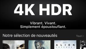 iTunes Store: la liste des films 4K HDR s'allonge