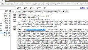 Un code de minage de cryptomonnaie cachée dans une extension Chrome