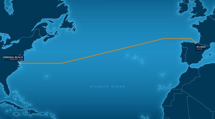 Un câble à 160 Tbit/s de 6600 km de long traverse l'Atlantique