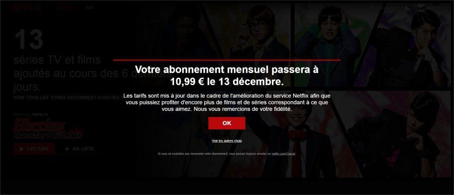 [MàJ] Netflix augmente ses tarifs