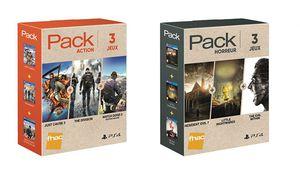 Bon plan – Des packs de 3 jeux PS4 récents à 50€ chez la Fnac