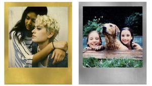 Des pellicules Polaroid dorées et argentées pour Noël
