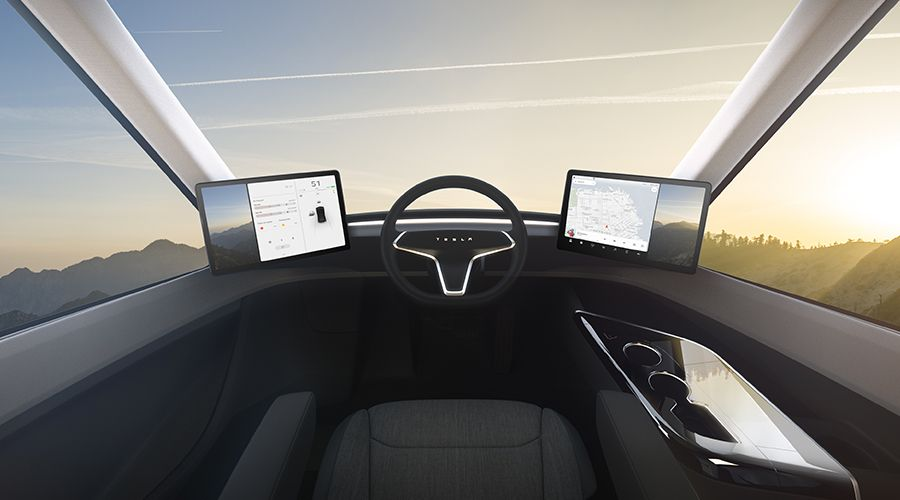 m j tesla semi le camion lectrique aux 800 km d autonomie. Black Bedroom Furniture Sets. Home Design Ideas
