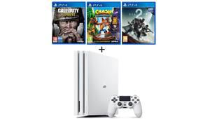 Black Friday – PS4 Pro blanche 1 To + 3 jeux à 390 €