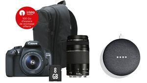 [MàJ] Double kit Canon EOS 1300D + Sac + SD 8Go à 449€