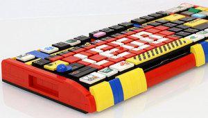 Un clavier insolite réalisé avec des briquettes Lego