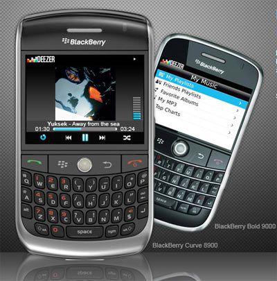 deezer sur blackberry curve