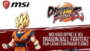 MSI offre Dragon Ball FighterZ avec ses produits