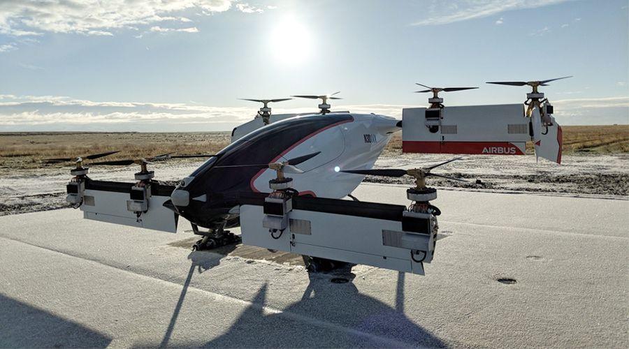 Airbus lance les essais du Vahana, un taxi volant électrique
