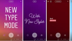 Instagram ajoute un mode texte aux Stories