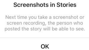 Instagram signale les captures d'écran sur les Stories