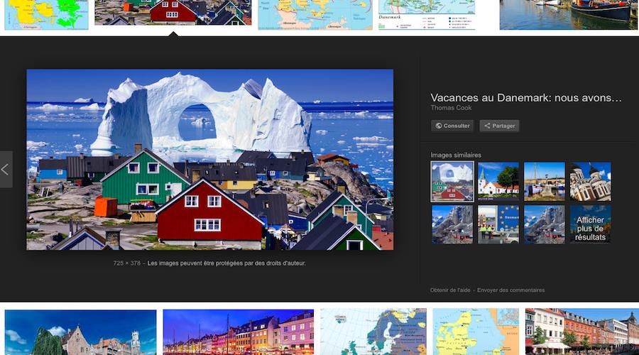 Google Images tue le bouton