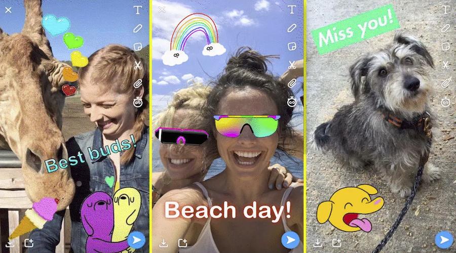 Snapchat ajoute les GIF animés et revoit encore son interface