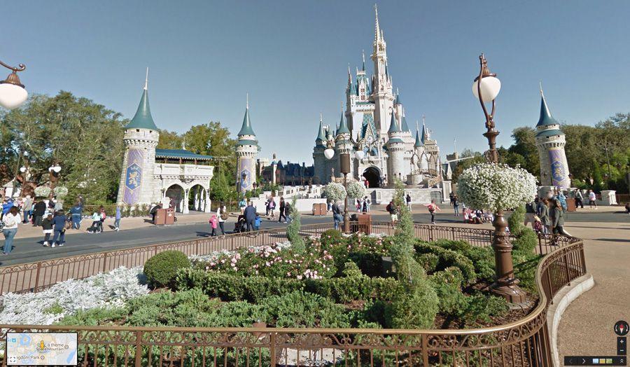 Google Street View propose la visite virtuelle de 11 parcs Disney