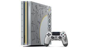 Une PS4 Pro à l'image de la hache de Kratos dans God of War