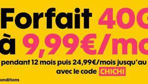 Bon plan – Sosh 40 Go: le forfait à 9,99€ par mois pendant un an