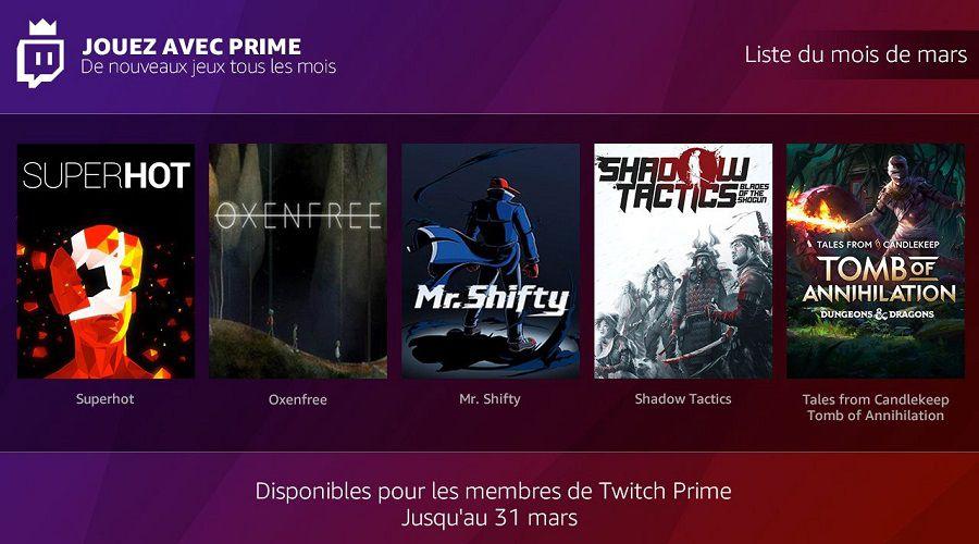 """Twitch/Amazon offre désormais des jeux à ses membres """"Prime"""""""
