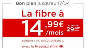 Bon plan – Fibre Free avec Freebox Mini 4K à 14,99€ par mois