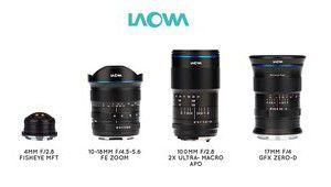 Quatre nouveaux objectifs Laowa disponibles