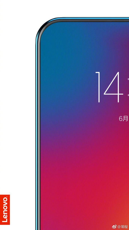 Lenovo tease un smartphone dont l'écran couvre 95% de la façade