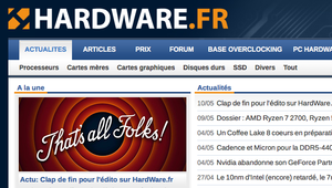 Au revoir et merci HardWare.fr