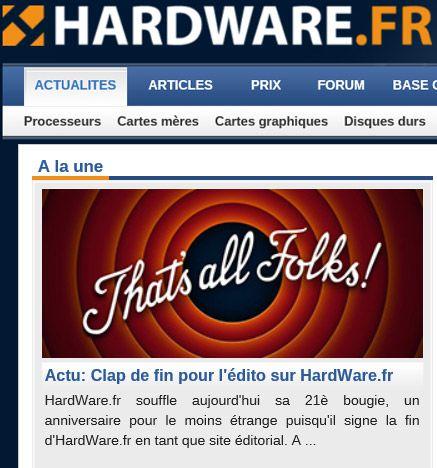 Arret hfr hardware 2
