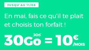 Bon plan – Forfait mobile illimité 30 Go à 10€ par mois chez RED