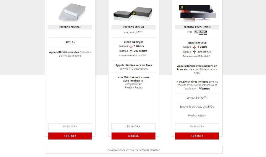 Freebox: le retour des offres historiques
