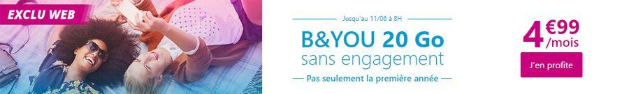 [MàJ] Bon plan – 5€ par mois: B&You et RED jouent les prolongations