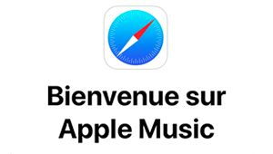 Apple Music met Safari à son diapason