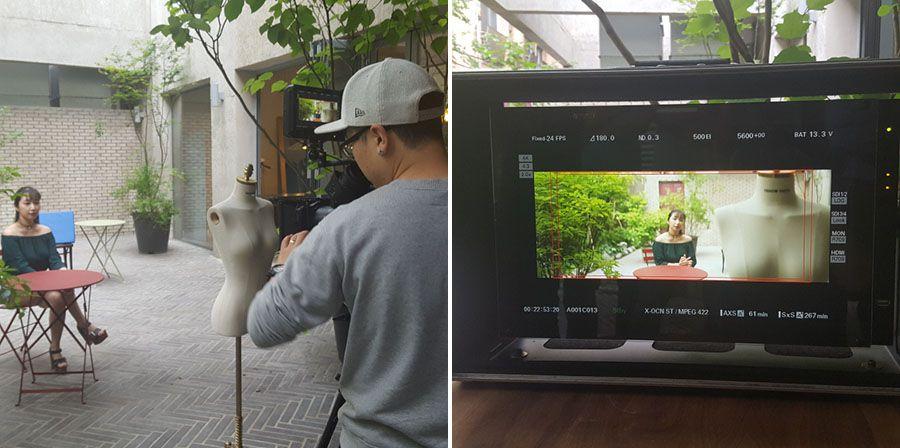 Essais du prototype d'optique anamorphique Samyang 50mm T1.4 monté sur une caméra Sony Venice.