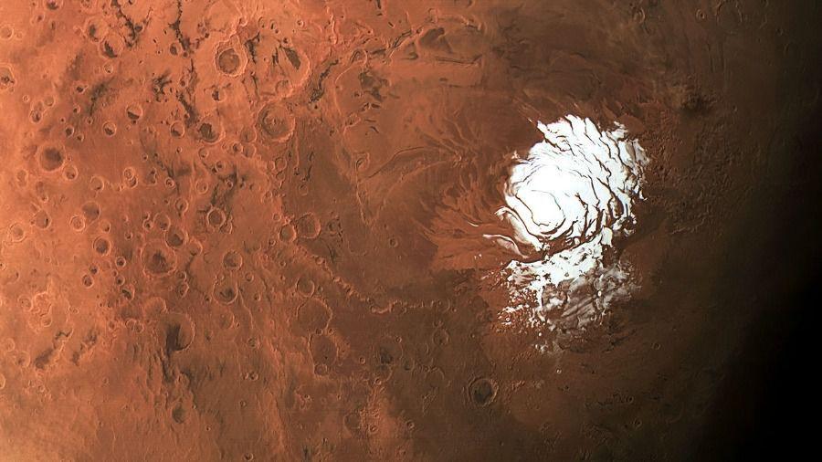Mars p%C3%B4le sud glace ESA