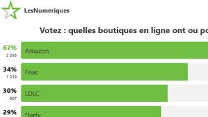 Résultats de sondage– Vos boutiques en ligne préférées