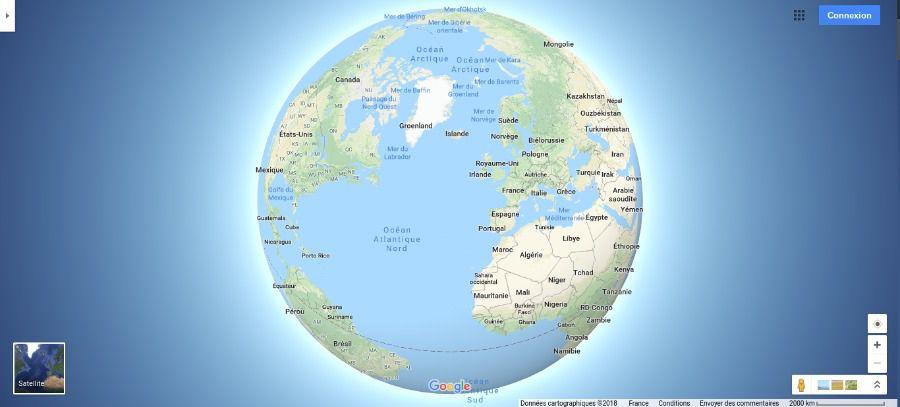 Google Maps globe 3D
