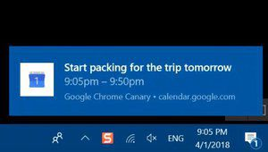 Chrome gère désormais les notifications natives de Windows 10