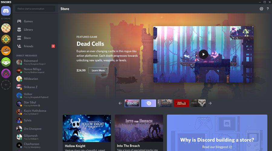 Après le chat, Discord va se mettre à la vente de jeux