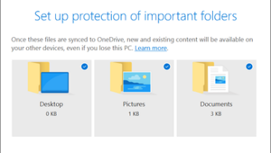 OneDrive: sauvegarde automatique pour bureau, documents et images